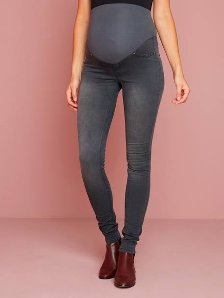 Denim-Look Maternity Treggings GREY MEDIUM WASCHED