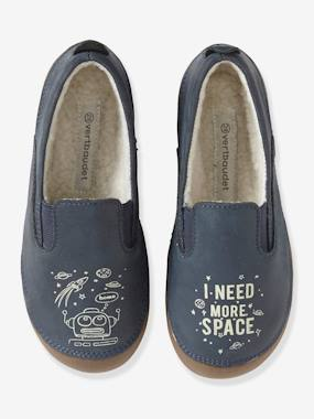 Click to view product details and reviews for Printed Leather Glow In The Dark Shoes For Boys Blue Dark Solid.