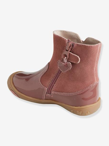 Leather Boots for Girls, Autonomy Collection BLUE DARK SOLID+PINK MEDIUM SOLID