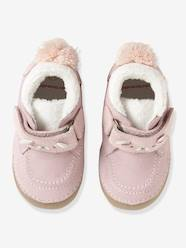 Shoes-Soft Leather Shoes with Fur for Babies