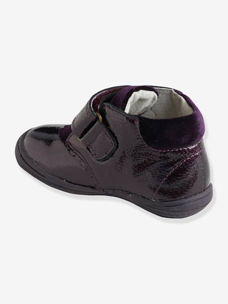 Patent Leather Boots with Touch 'n' Close Fastening for Girls PURPLE DARK SOLID
