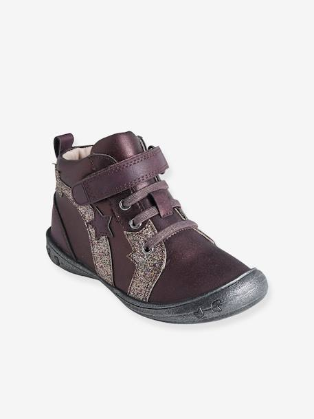 Girls' Boots, Autonomy Collection GREY MEDIUM SOLID+PURPLE DARK SOLID