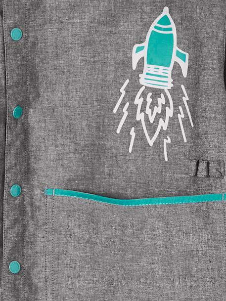 Smock in Chambray for Boys GREY MEDIUM WASCHED