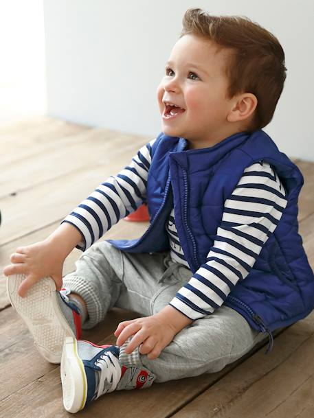 Sleeveless Padded Jacket for Baby Boys BLUE BRIGHT SOLID