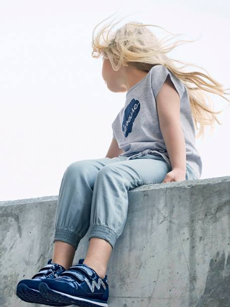 Tie T-Shirt for Girls GREY LIGHT MIXED COLOR
