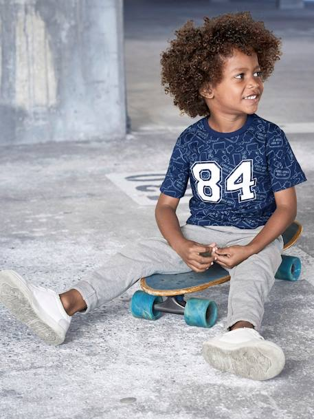 Printed T-Shirt for Boys BLUE DARK ALL OVER PRINTED