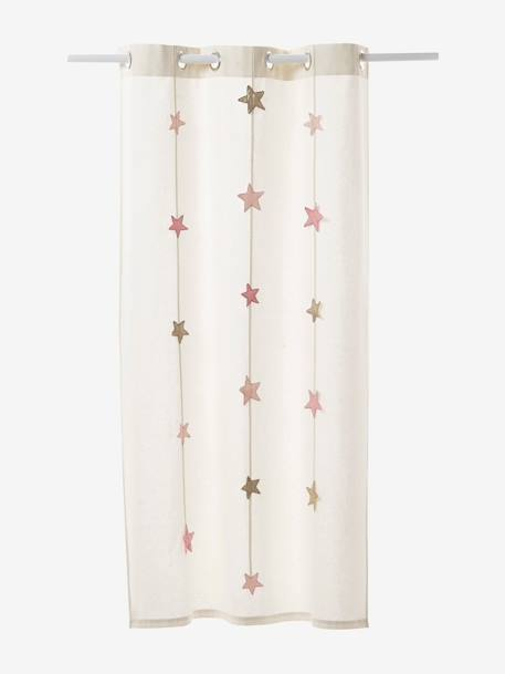Iridescent Star Curtain Ecru