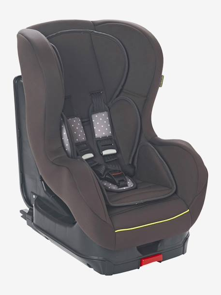 VERTBAUDET Babysit + Isofix Car Seat - Group 1 GREEN BRIGHT ALL OVER PRINTED+Grey/star print