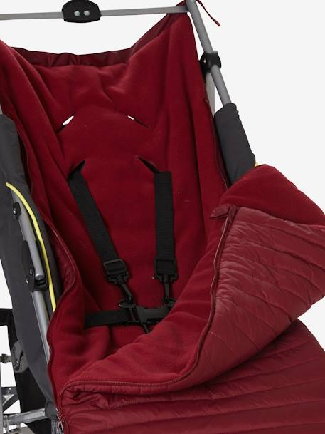 Vertbaudet Padded Cover for Baby Pushchair RED DARK SOLID