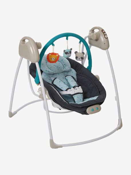 VERTBAUDET Babyswing with Toy Bar Beige+BLUE DARK SOLID+GREY LIGHT SOLID WITH DESIGN