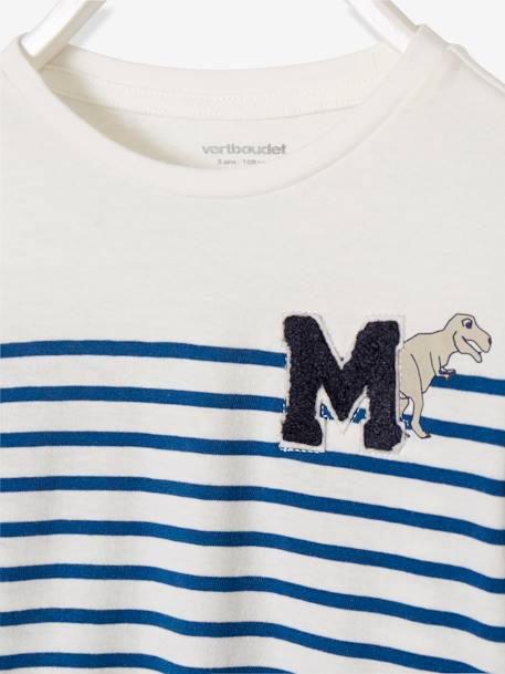 Striped Long-Sleeved T-Shirt for Boys BLUE DARK STRIPED+RED DARK STRIPED