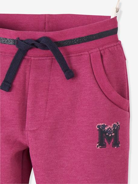 Fleece Joggers for Girls BLUE DARK SOLID WITH DESIGN+GREY LIGHT MIXED COLOR+PINK DARK SOLID WITH DESIGN