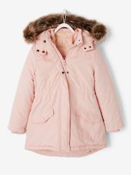 Girls-4-in-1 Parka with Fleece Lining for Girls