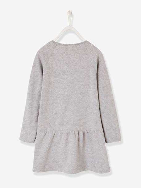 Printed Fleece Minnie® Dress GREY LIGHT SOLID WITH DESIGN