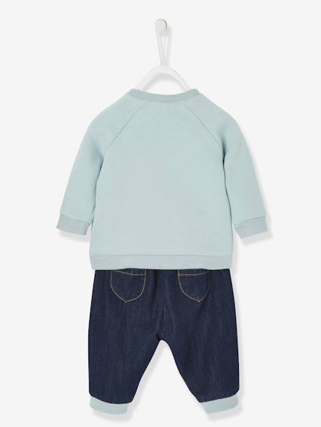 Sweatshirt & Jeans Outfit for Babies, Captain Hugs BLUE DARK SOLID