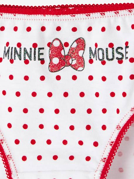 Pack of 7 Minnie® Briefs WHITE DARK SOLID WITH DESIGN