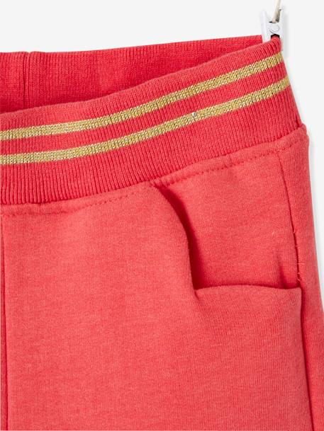Fleece Trousers for Girls BLUE DARK SOLID+RED LIGHT SOLID