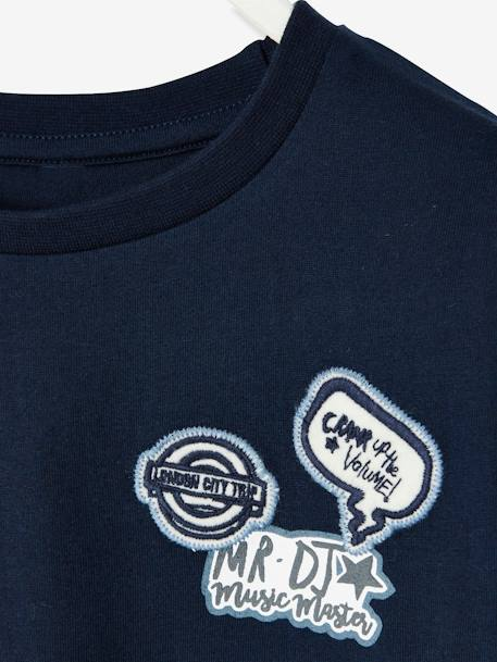 Printed T-Shirt for Boys BLUE DARK SOLID WITH DESIGN