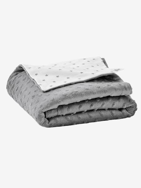 Stella Double-Sided Blanket in Fleece/Polar Fleece for Babies GREY DARK SOLID+PINK LIGHT SOLID