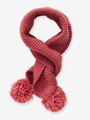 Girls-Accessories-Scarf with Pompoms for Girls