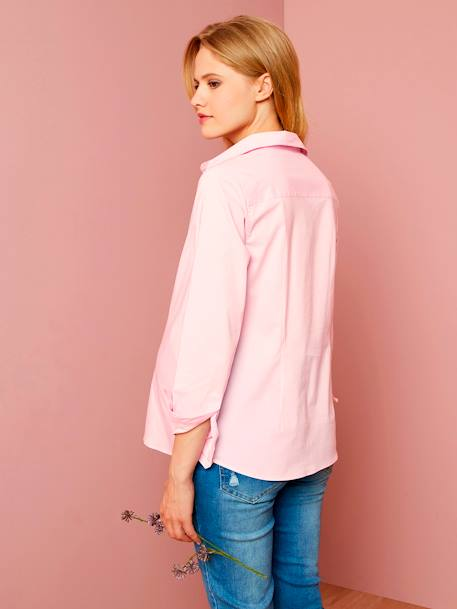 Maternity Urban Shirt PINK LIGHT SOLID+WHITE LIGHT SOLID