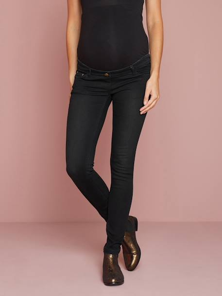 Maternity Slim Strech Jeans - Inside Leg 33' Black+BLUE DARK WASCHED+Grey+Untreated