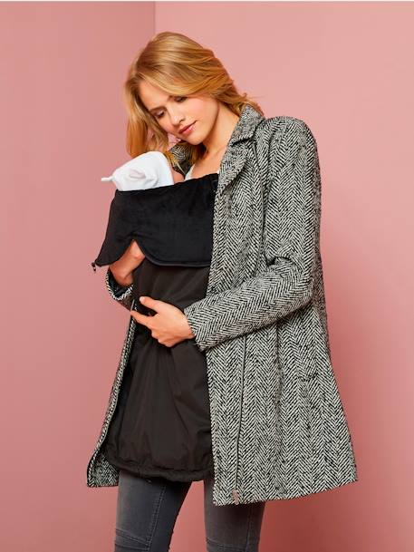 3-in-1 Adaptable Maternity Coat Herringbone