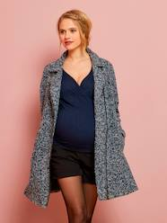 Maternity-Maternity Coat in Iridescent Wool
