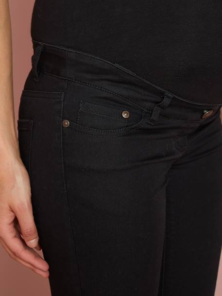 Maternity Slim Jeans in Stretch Fabric, Inside Leg 31' BLACK DARK SOLID+BLUE DARK SOLID+WHITE LIGHT SOLID