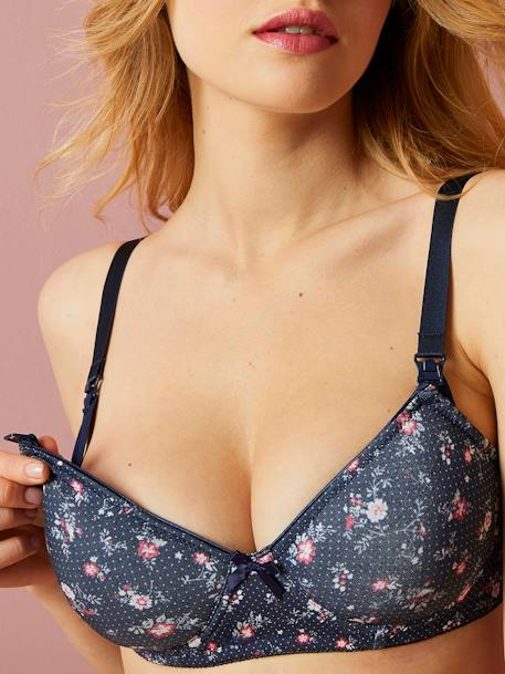 Printed & Padded Nursing Bra BLUE DARK ALL OVER PRINTED+RED LIGHT ALL OVER PRINTED