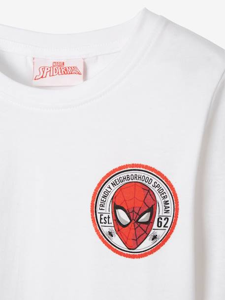 Pack of 2 Long-Sleeved Spiderman® Tops WHITE MEDIUM SOLID