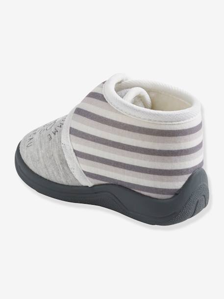Baby Shoes with Fur for Boys GREY MEDIUM SOLID WITH DESIGN