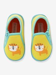Shoes-Baby Footwear-Slippers with Zip for Boys