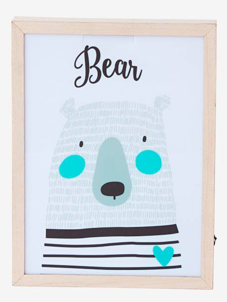 Bear Light Box WHITE LIGHT SOLID WITH DESIGN