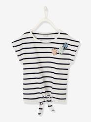 Girls-Tops-T-Shirts-Magic T-shirt for Girls, with Press Stud Patches