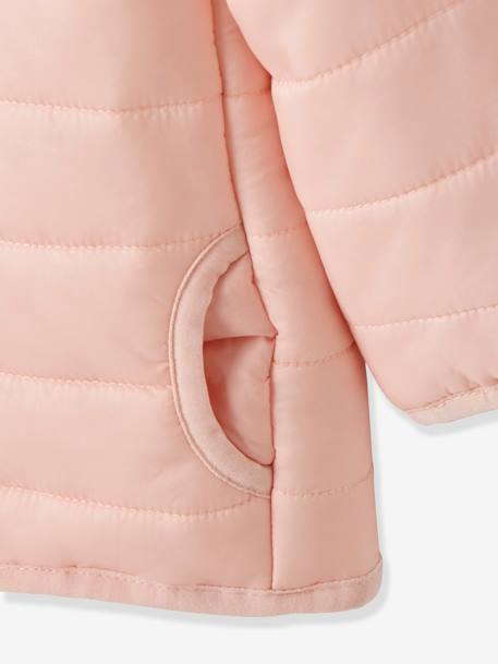Babies' Lightweight Jacket with Stylish Hood PINK DARK SOLID+PINK LIGHT SOLID