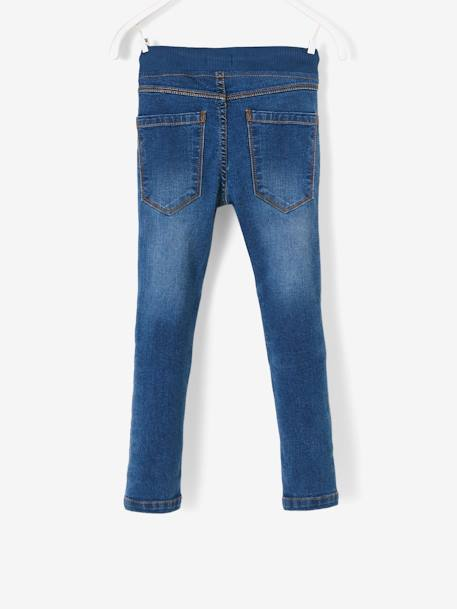 WIDE Hip, Slim Leg Jeans for Boys BLUE DARK SOLID+BLUE DARK WASCHED