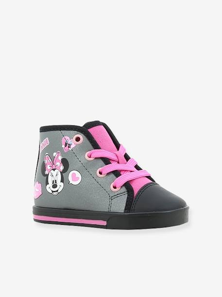 High Top Minnie® Trainers with Laces for Girls GREY MEDIUM SOLID WITH DESIGN