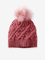 Girls-Cable-Knit Beanie for Girls