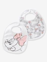 Nursery-Mealtime-Pack of 2 Minnie® Print Bibs for Babies