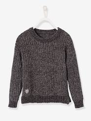 Girls-Cardigans, Jumpers & Sweatshirts-Jumpers-Shimmery Chenille Knit Jumper