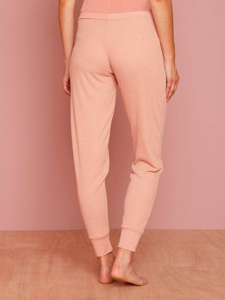 Maternity Loungewear Ribbed Trousers PINK MEDIUM MIXED COLOR