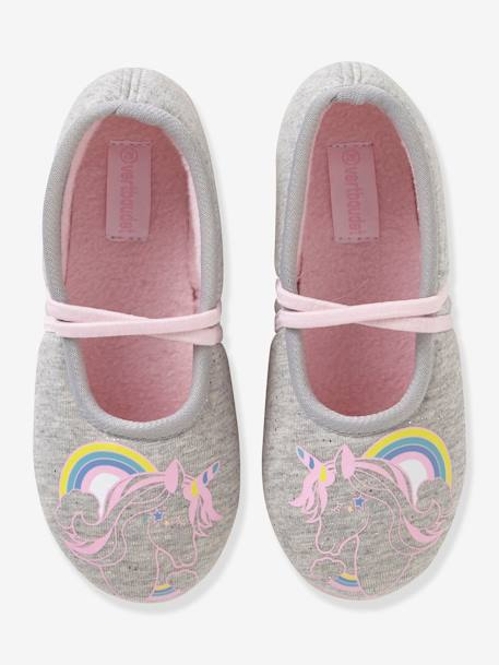 fc69a4d9d Fabric Ballerina Shoes for Girls - grey light solid with design, Shoes ...