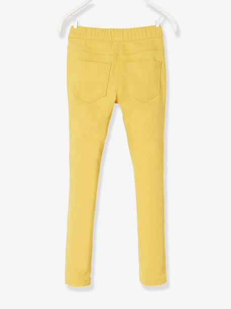 Girls' Plain Treggings BLUE LIGHT SOLID+Pink+YELLOW DARK SOLID