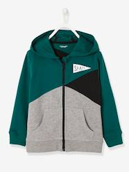 Boys-Cardigans, Jumpers & Sweatshirts-Sweatshirts & Hoodies-Boys' Colour Block Jacket with Zip