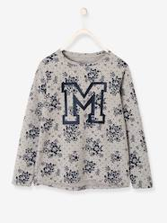 Girls-Flowery Long-Sleeved Top for Girls