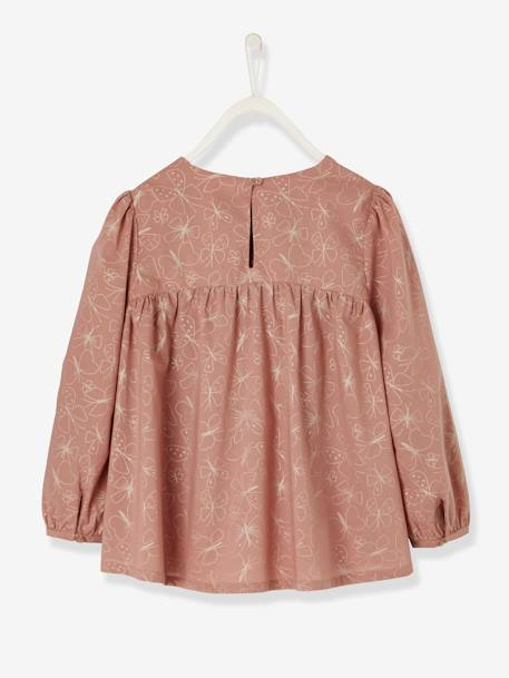 Loose-Fitting Blouse for Girls BLACK DARK ALL OVER PRINTED+PINK LIGHT ALL OVER PRINTED+WHITE LIGHT CHECKS