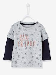 Baby-T-shirts & Roll Neck T-Shirts-T-Shirts-Layered-Look T-Shirt for Baby Boys