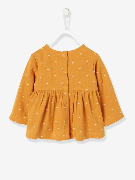 Embroidered Blouse for Baby Girls ORANGE MEDIUM ALL OVER PRINTED