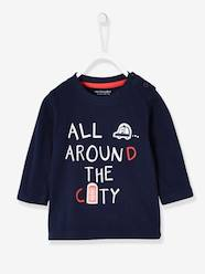 Baby-T-shirts & Roll Neck T-Shirts-T-Shirts-Top with London Print for Baby Boys